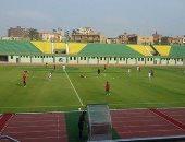لقطة من مباراة شبين والبنك الأهلى