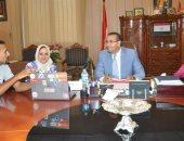 اجتماع رئيس جامعة المنصورة