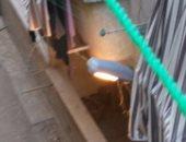 أعمدة الإنارة مضاءة نهارا فى شارع رضوان بالهانوفيل