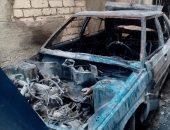 السيارة التى حرقها البلطجية