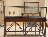 معروضات المضبوطات الأثرية بالمتحف المصرى