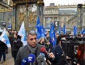 جانب من احتجاجات الشرطة الفرنسية
