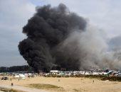 احراق المخيمات فى كاليه