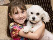 الفتاة مع كلبها