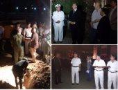 تأمين موقع انفجار خط غاز النادى الأهلى بمدينة نصر