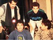 """حميد الشاعرى خلال تسجيل ألبوم """"حكتبلك"""" 1987"""