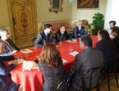 جانب من لقاءات عبدالعزيز سعود البابطين مع مسؤولين فى مدينة باليرمو