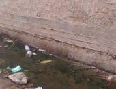 غرق قرية منية المباشرين بمياه الصرف الصحى