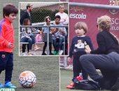 نجوم برشلونة رفقة عائلاتهم