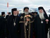 البابا تواضروس يصل اثينا