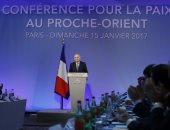 وزير خارجية فرنسا جان مارك إيرو فى مؤتمر باريس للسلام