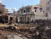 مياه الصرف بشوارع القرية