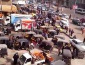 سير التوك توك عكس الاتجاه بميدان الطوابق فى فيصل