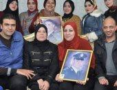 أعضاء مستقبل وطن ببور سعيد مع أسرة الشهيد