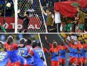 احتفال نجوم المنتخب المغربى