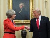 الرئيس الأمريكى دونالد ترامب وتيريزا ماى رئيسة وزراء بريطانيا
