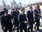 جانب من جولة مدير أمن الموانئ بميناء سفاجا