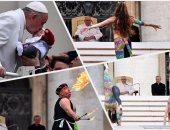 راقصات وألعاب بهلوانية ونارية فى عظة بابا الفاتيكان