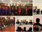 وزير الرياضة يحفز منتخب الشباب