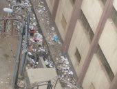 القمامة بجوار مدرسة النور والأمل للمكفوفين