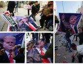 مظاهرات فى فلسطين ضد الرئيس الأمريكى دونالد ترامب