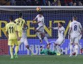 جانب من الشوط الأول لمباراة ريال مدريد وفياريال