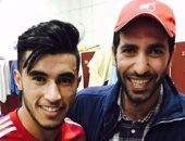 أبو تريكة مع محمد حسن لاعب وادى دجلة الحالى وبلدية المحلة السابق