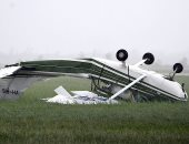 تحطم طائره صغيره بسبب اعصار فى استراليا