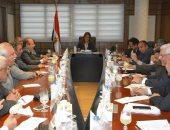 الدكتورة هالة السعيد وزيرة التخطيط مع أعضاء اتحاد المستثمرين
