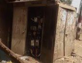 كابينة كهرباء متهالكة بقرية الشيخ جبر بسوهاج