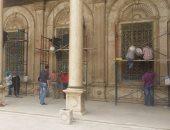 أعمال الترميم فى مسجد محمد على