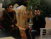 """هيثم شاكر مع غادة عبد الرازق فى أحد مشاهد مسلسل """"أرض جو"""""""