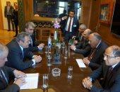 وزير الخارجية سامح شكرى ووزير الدفاع اليونانى