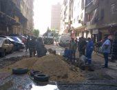 الصرف الصحى: تم إصلاح عطل شارع كمال حجاب بالسلام