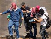 متظاهر فلسطينى مصاب - أرشيفية