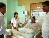 زيارة وزير الصحة الهندى لإيمان