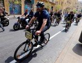 رئيس الوزراء اللبنانى يشارك فى ماراثون دراجات