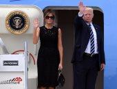 الرئيس الأمريكى وزوجته ميلانيا ترامب