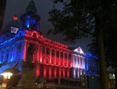 إضاءة بألوان العلم البريطانى