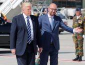 الرئيس الأمريكى ترامب يصل بروكسل