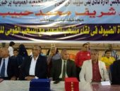 اللواء خميس أبو الفضل خلال حضور البطولة الودية للملاكمة