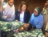 غاده والى وزيرة التضامن الاجتماعى تزور مصابى الحادث الإرهابى