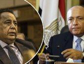 سامح شكرى وزير الخارجية المصر وابراهيم غندور وزير خارجية السودان