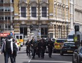 الشرطة البريطانية فى مكان حادث الدهس