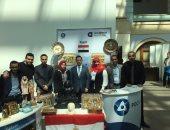 الطلاب المصريين مع المستشار الإعلامى لمصر فى روسيا