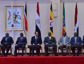 الرئيس السيسى يتوسط قادة حوض النيل+ صورة أرشيفية