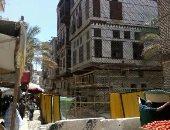 بدء العمل فى منزل رمضان الأثرى برشيد بعد سقوط سقفه