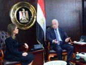 سحر نصر وزيرة الاستثمار مع محافظ جنوب سيناء