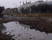 طفح مياه المجارى فى قرية مليانة