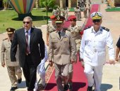 قائد الجيش الثانى ومحافظ الإسماعيلية ومدير الأمن